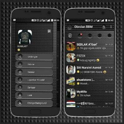 BBM Black Shadow V3.0.1.25 MOD APK Edition Terbaru 2016