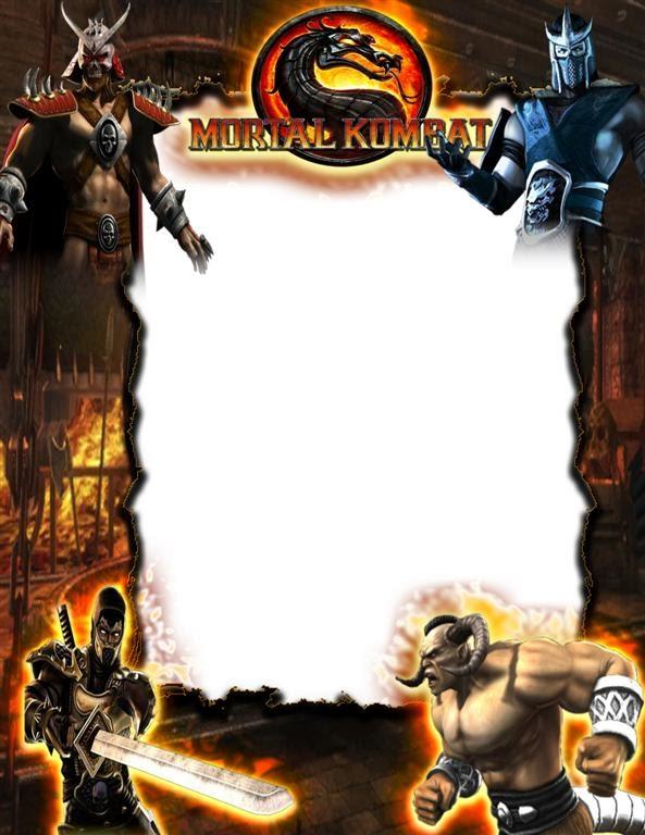 marco para fotos con personajes de mortal kombat