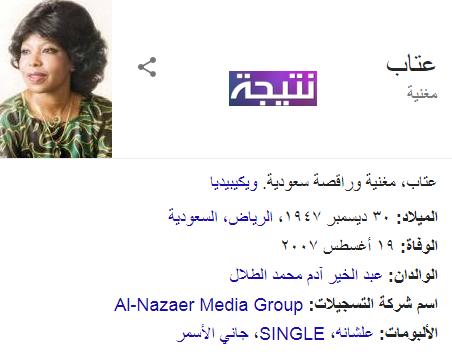 من هى عتاب التى تحتفل جوجل بعيد ميلادها