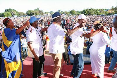 Raila In Kwale. PHOTO | FILE