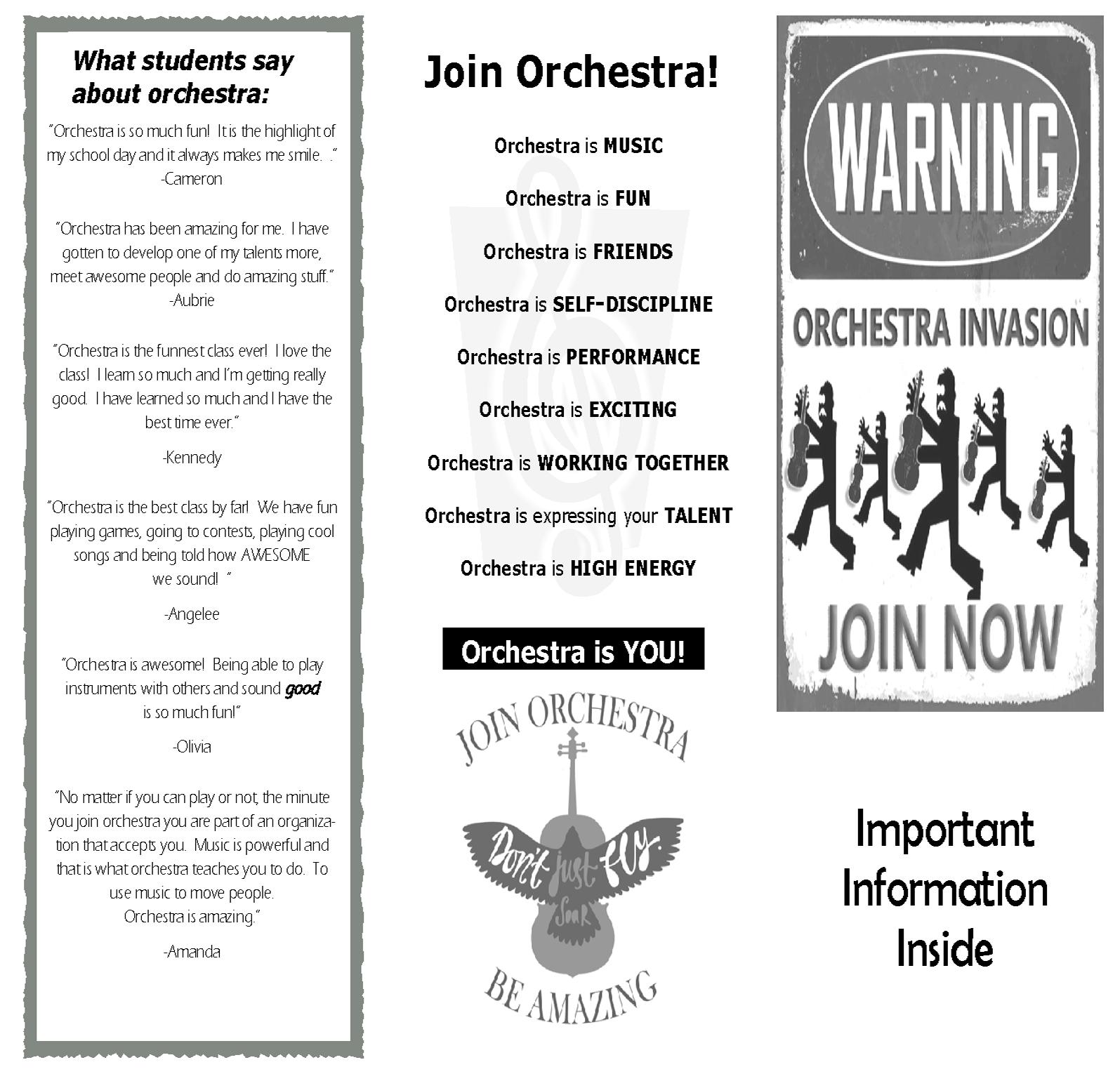 Orchestra classroom ideas brochure fandeluxe Choice Image