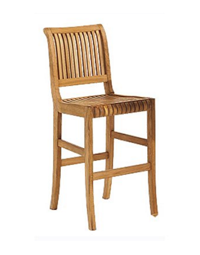 Grade-A Teak Wood Outdoor Patio Garden 24 inch Armless Bar Chair.png