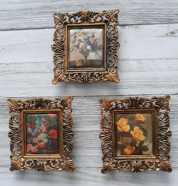 vintage floral art miniatures
