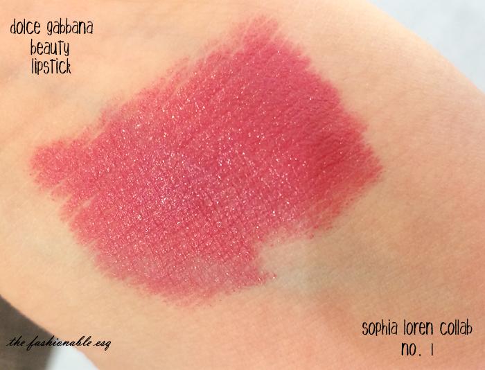 D&G Lipstick No.1 Swatch