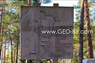 Налибокская пуща. Схема музея Дзержиново