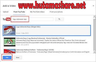 Insert Video Youtube Blogger Blogspot