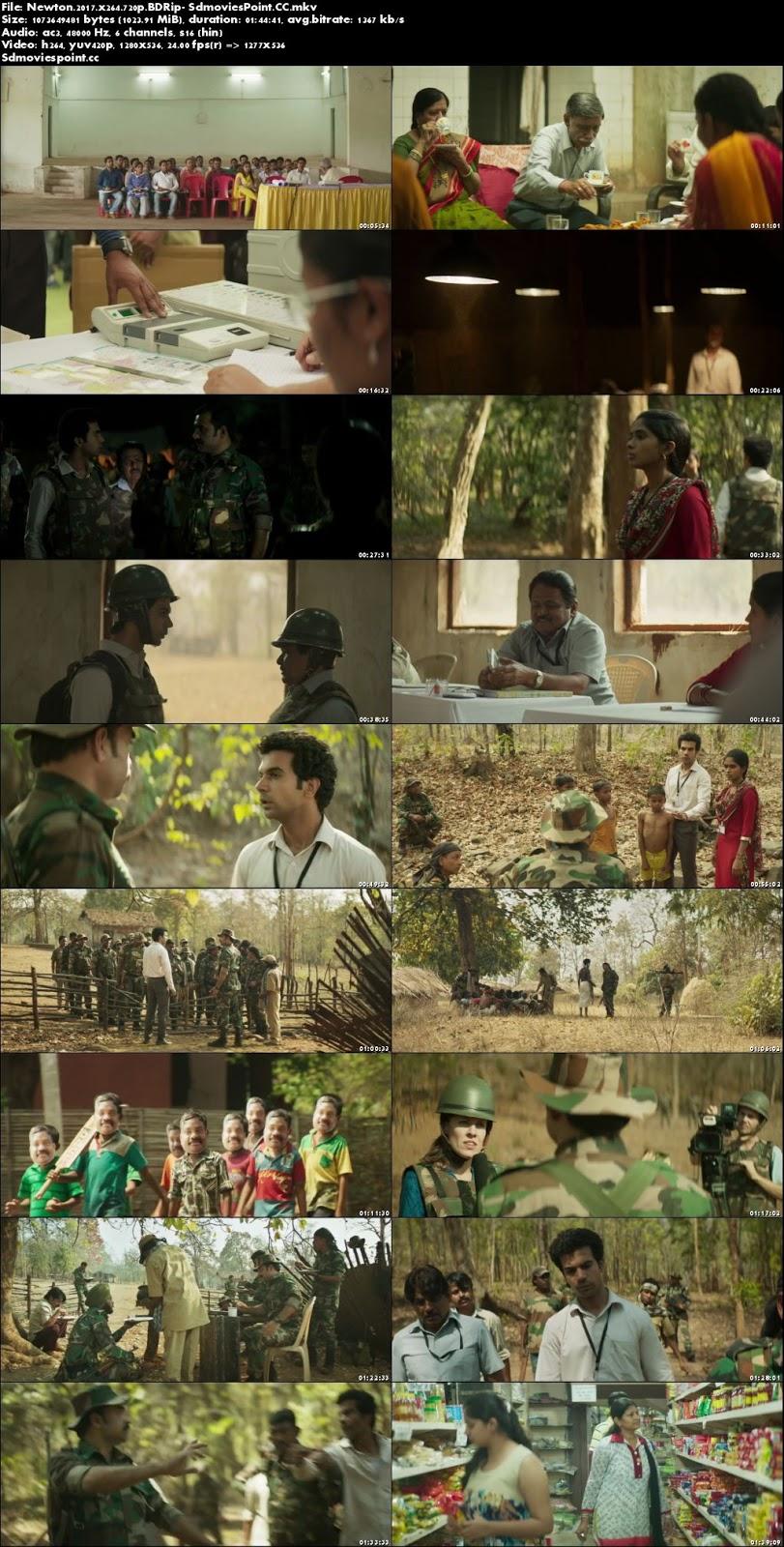 screen shot Newton 2017 Full Movie Hindi 720p BRRip 1Gb x264