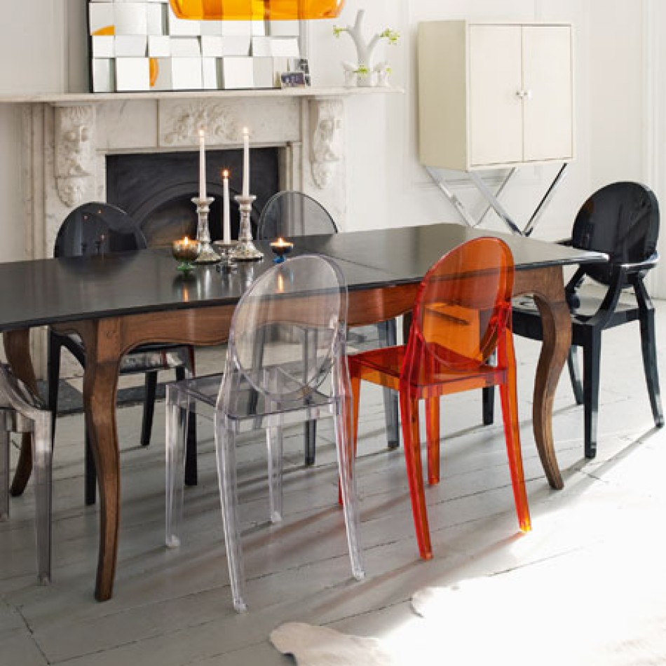 VICTORIA Ghost Chair Sample Sale  Dining Chairs  Crystal
