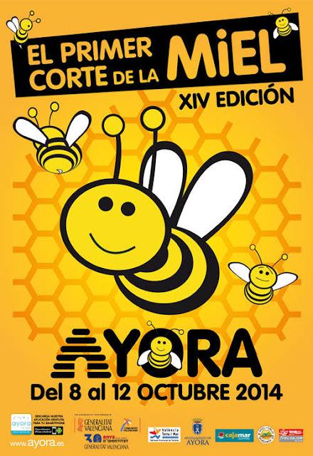 Sencillo e impactante cartel con abejas