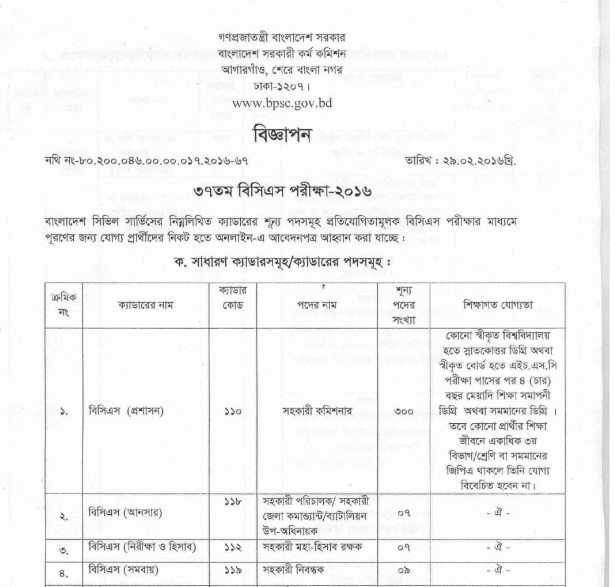 http://www.bpsc.gov.bd/upload/docs/bcs_advertise_0229183207.pdf