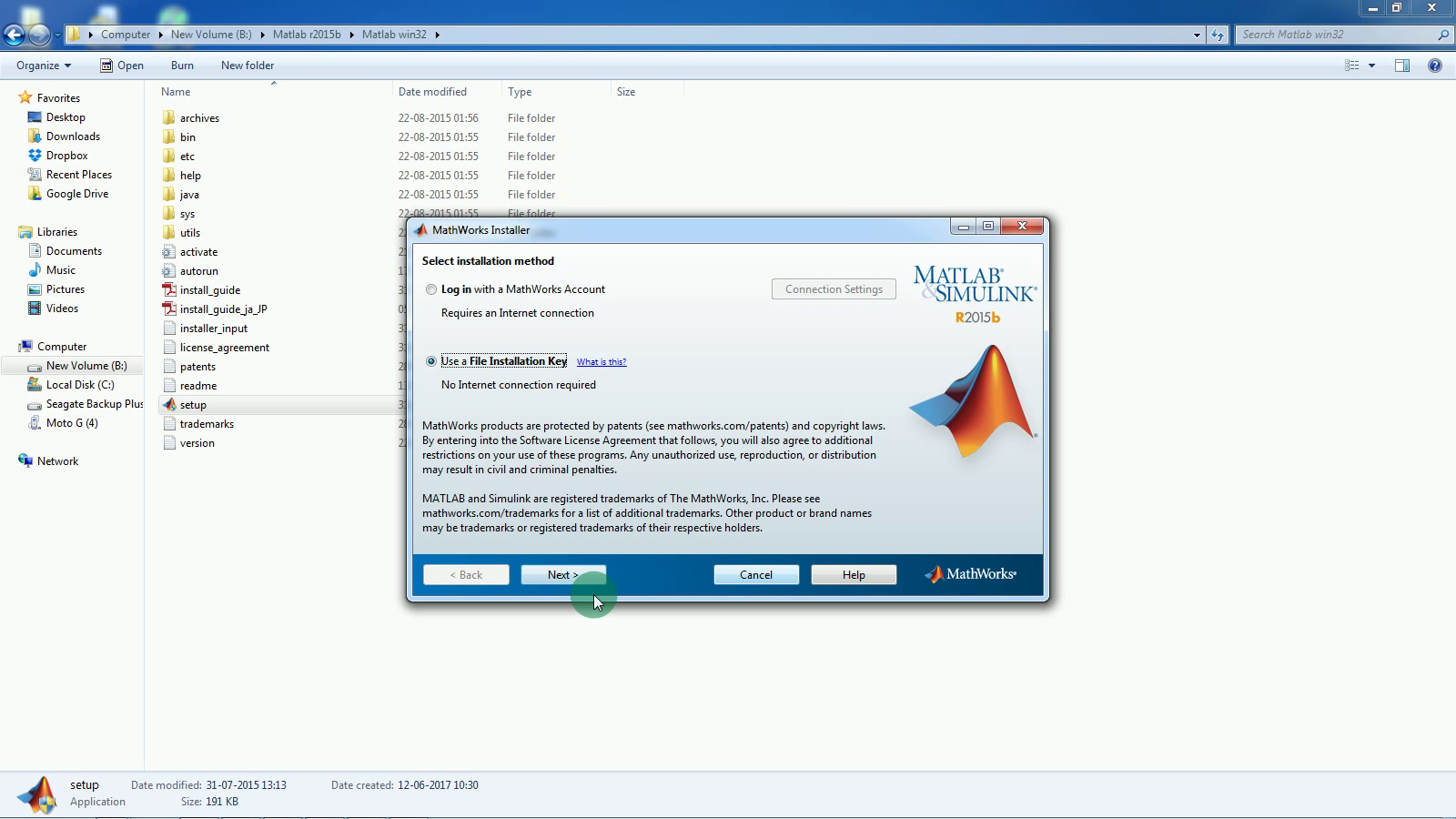 matlab 2015 activation key crack