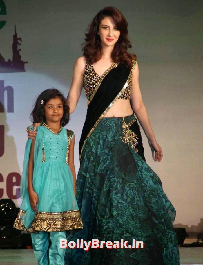 Saumya Tandon, Ex Bigg Boss Contestants at Welingkar's Tribute Fashion Show 2014