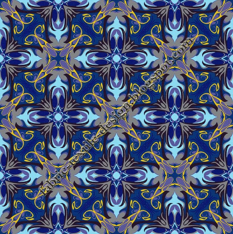 Retro Upholstery Fabric Textile Digital Printing Geometric