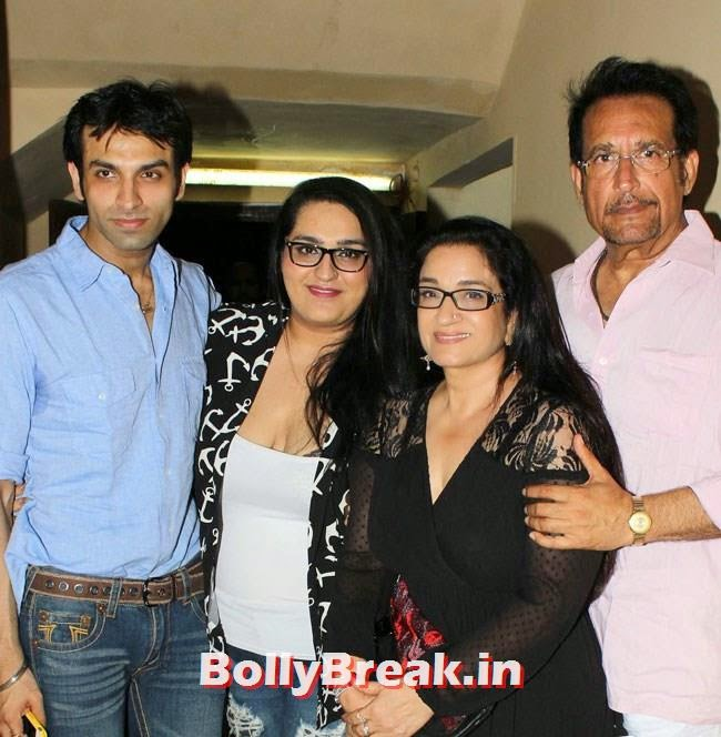 Actor Kiran Kumar with his family, Vidya Balan, Dia Mirza at Special Screening of Bobby Jasoos