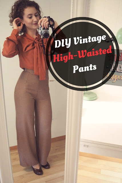 The Vintage Pattern Files: Free 1950s Sewing Pattern - High Waisted Trousers