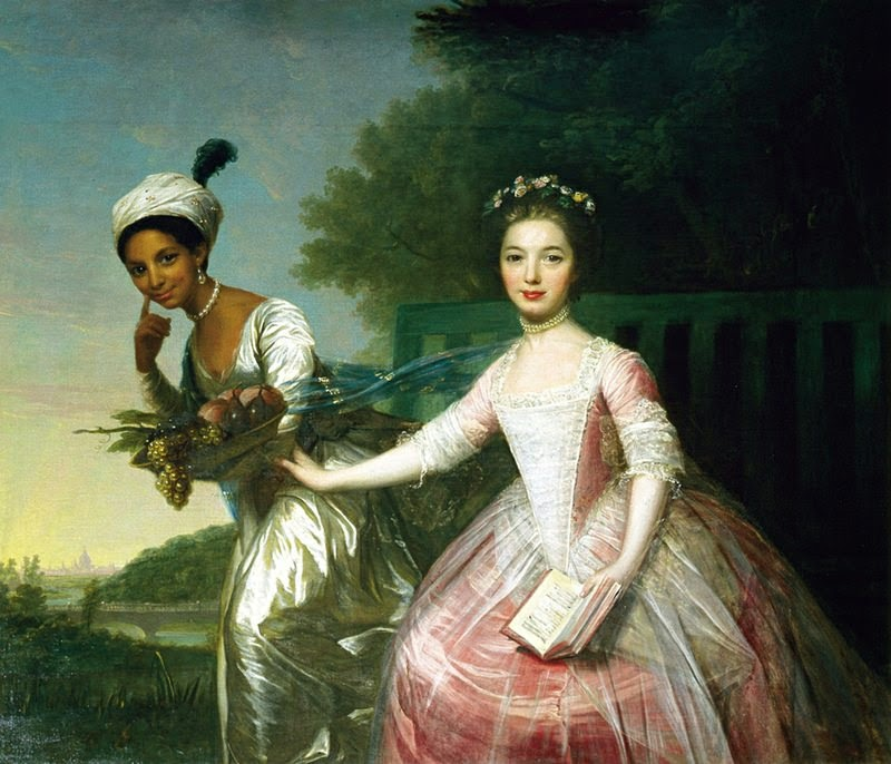 Painting of Dido Belle with her cousin Elizabeth Murray