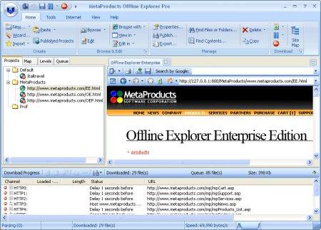 Download MetaProducts Offline Explorer 7.1.4452 Enterprise Portable