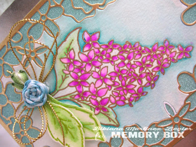 mothers day card lilac bouquet in watercolor detail