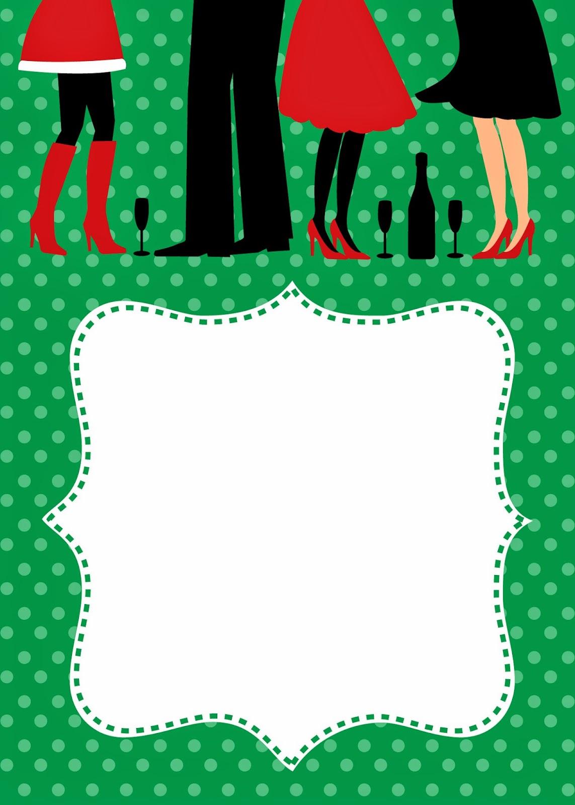 Invitaciones Tarjetas O Fondos Para Navidad Para Imprimir