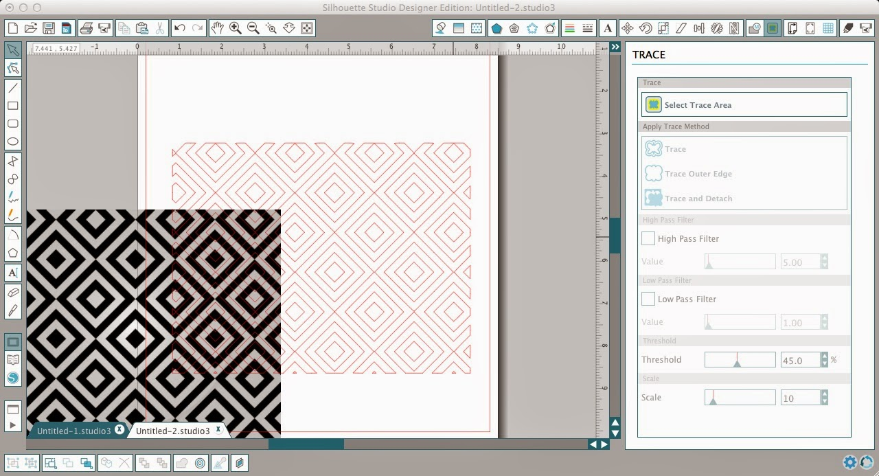 Patterns, cut files, Silhouette Studio, Silhouette tutorial, cut lines