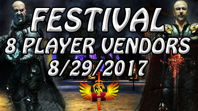 Festival POT,  8 Player Vendors Checked (8/29/2017) ♥ Shroud of the Avatar Market Watch
