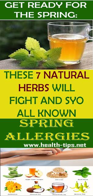 Herbal Remedies Against Spring Allergies#NATURALREMEDEIS