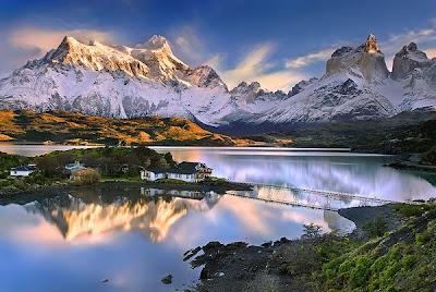 Gambar Pemandangan Alam Indah Terbaru Gunung Salju Danau Cantik