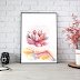 Watercolor Lotus Flower for Home Decor