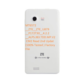 ZTE U879 MT6572 CM2 Read 2nd Updat (100% Tested ) Factory File