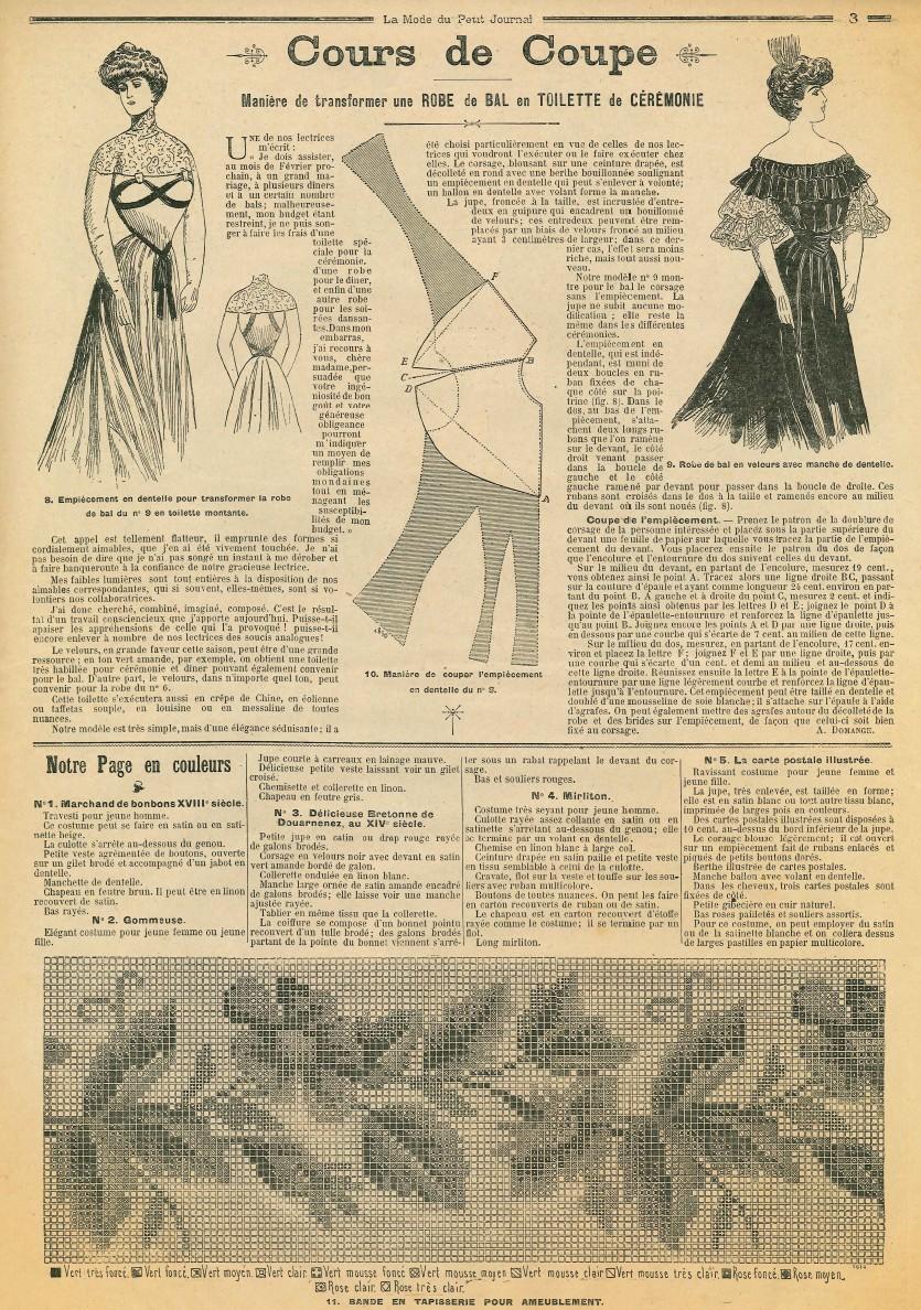 Le blog de callisto la mode du petit journal 1er et 8 janvier 1905 - Le journal de la mode ...