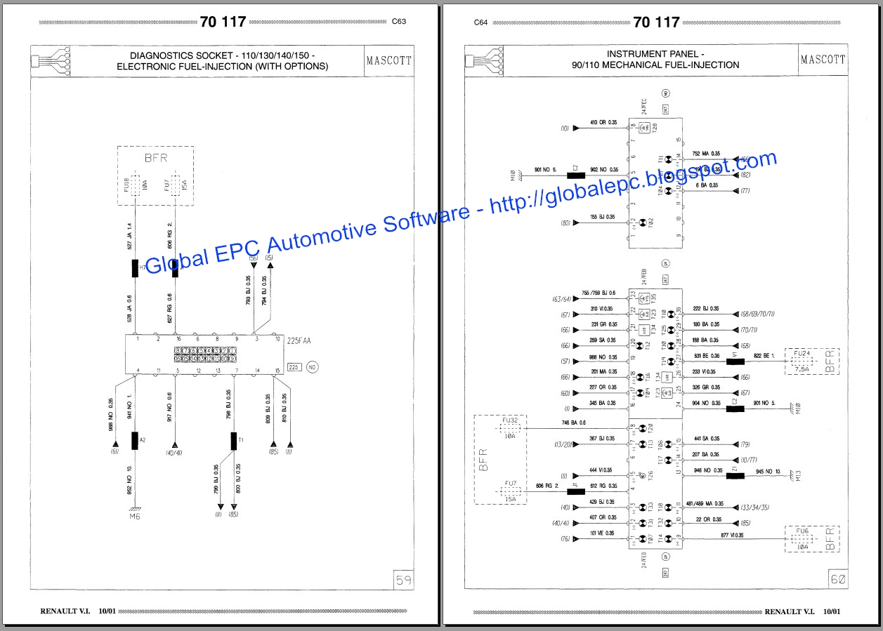 renault master wiring diagram 1999 vw beetle engine global epc automotive software mascott