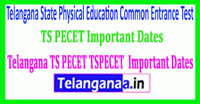 TSPECET 2019 Important Dates