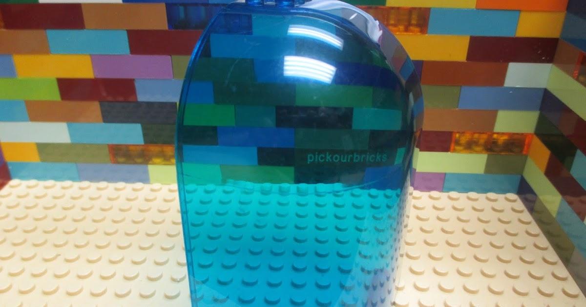 1 4x8x2 BLUE Color Translucent Fighter Cockpit Canopy w//bar Bricks ~ New Lego