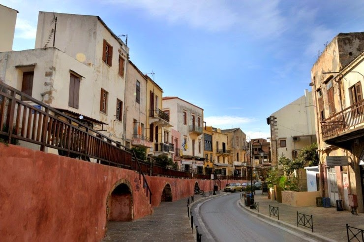 The Romantic Old Town of Chania in Crete, Hellas (Greece)