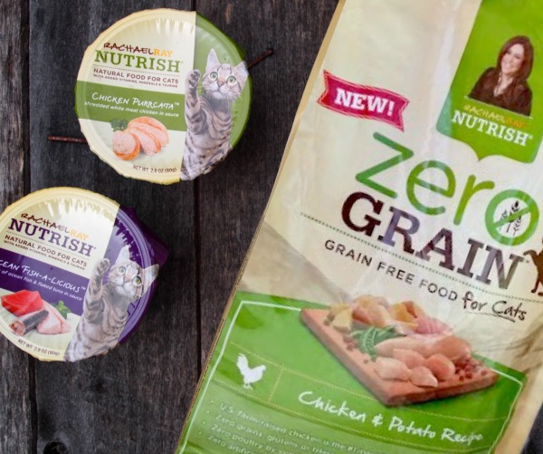 Looking for Zero Grain cat food? Try Nutrish by Rachael Ray.  This post is sponsored.