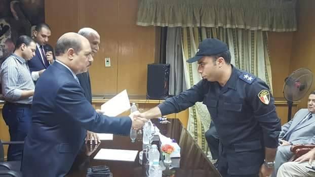 تكريم الضباط والجنود المتميزين بمديرية امن الفيوم بحضور نائبا عن وزير الداخلية