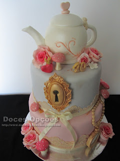 wonderland alice birthday cake
