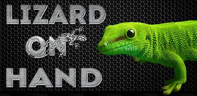 Lizard on hand funny prank