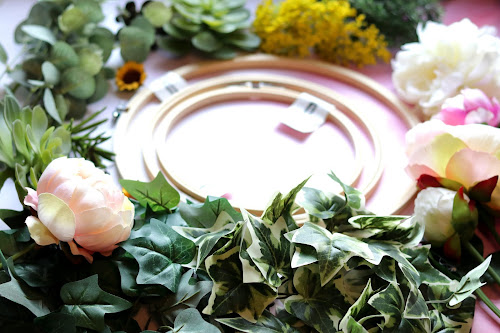 Diy Project A Very Easy Floral Hoop Tutorial For Any Occasion Treasure Every Moment