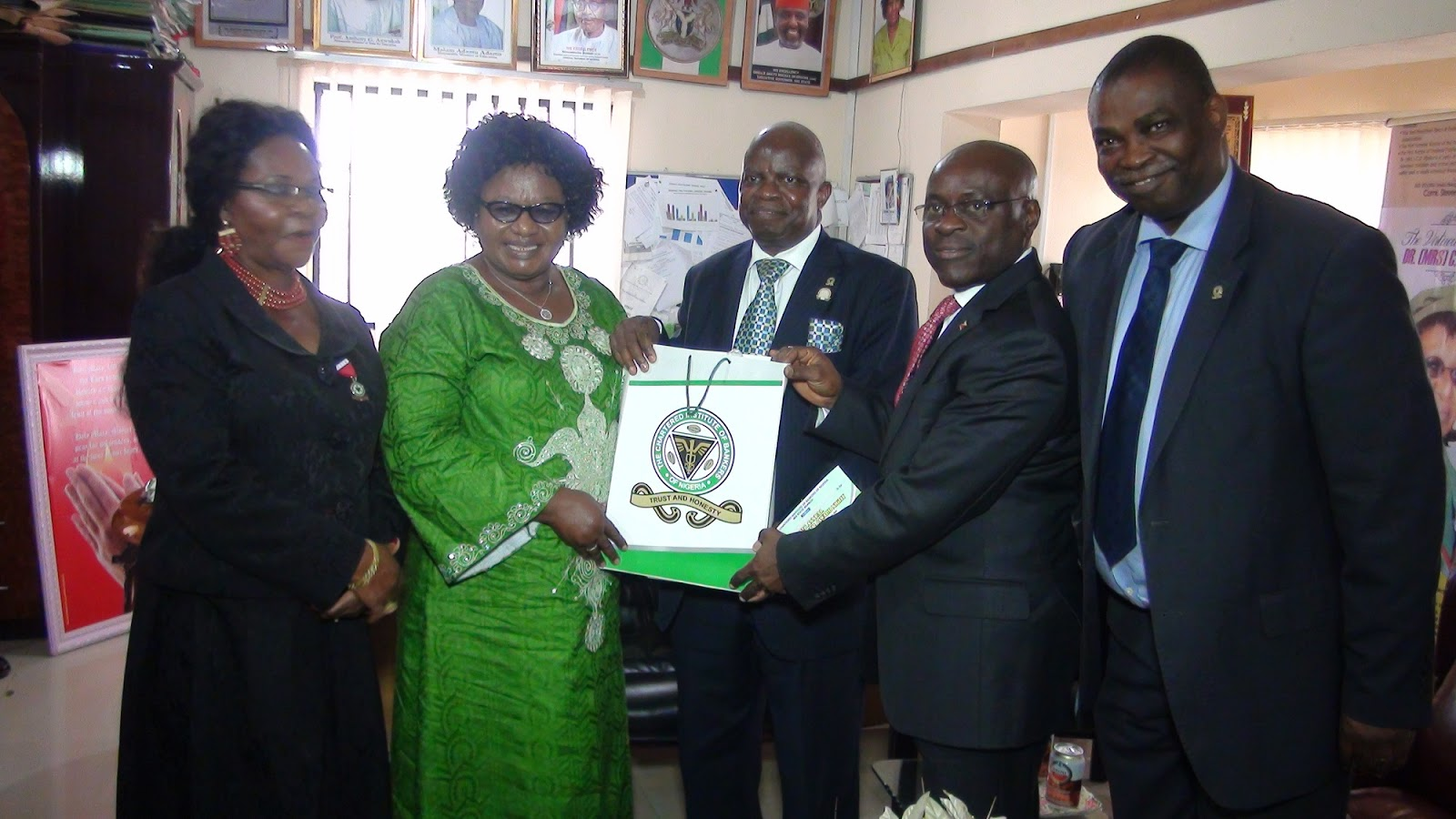 CHARTERED INSTITUTE OF BANKERS OF NIGERIA (CIBN) HONORS DR. (MRS) C. U. NJOKU, RECTOR FEDERAL POLYTECHNIC NEKEDE.