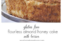 Gluten Free Flourless Almond Honey Cake with Berries