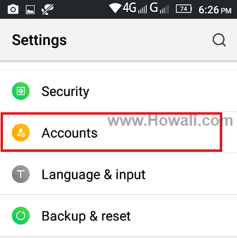 How do I remove Google / Gmail Account from Android Phone