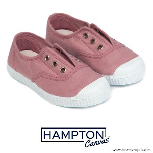 Princess Charlotte wore Hampton Canvas plum style shoe rose
