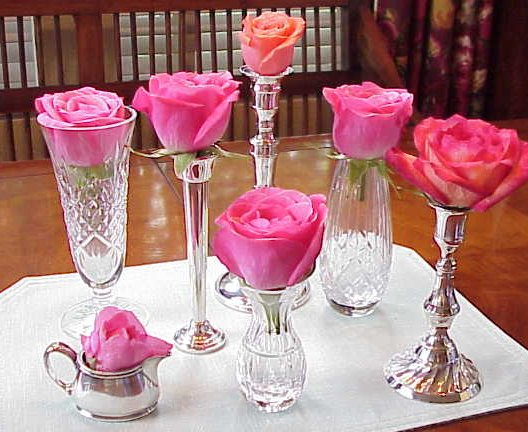vase centerpieces centerpiece vases flowers glass bud decor flower candlestick rose decorating table arrangements candle inexpensive simple idea opening easy