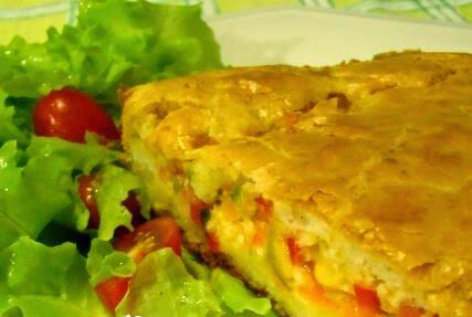 Torta Salgada Vegetariana (Imagem: Reprodução/Internet)
