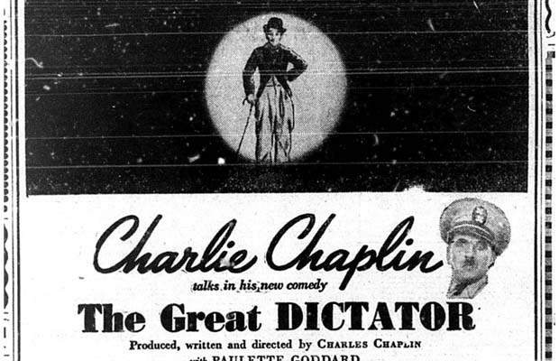 20 November 1940 worldwartwo.filminspector.com Charlie Chaplin The Great Dictator
