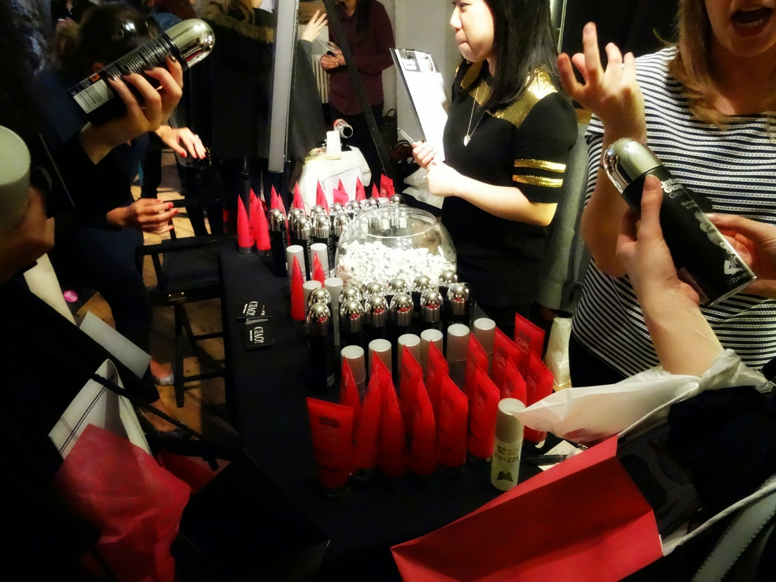 Giano Umberto Hair care at blogging event