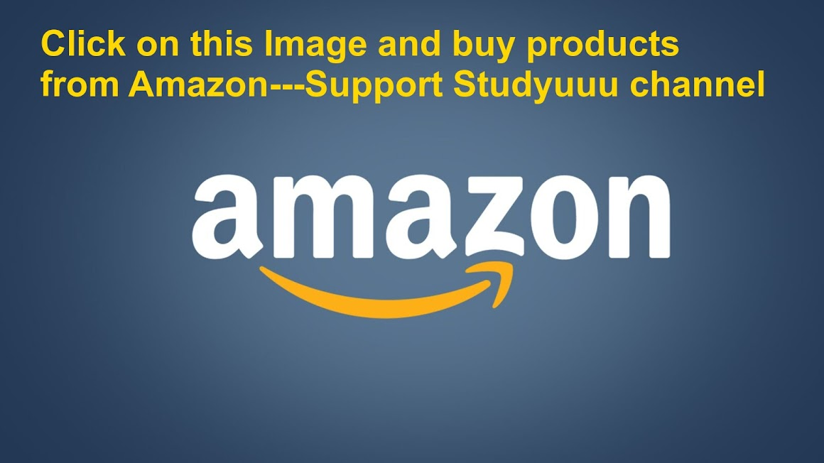 Amazon--Buy any products from this link --Support Studyuuu channel