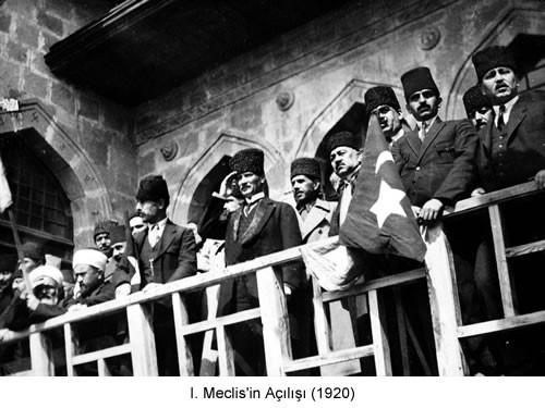 Atatürk I. Meclis Açılışı 1920 Fotoğraf