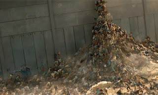 World War Z zombie wall scene